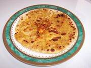 Paneer Parathas (Parathas stuffed with Cottage Cheese)