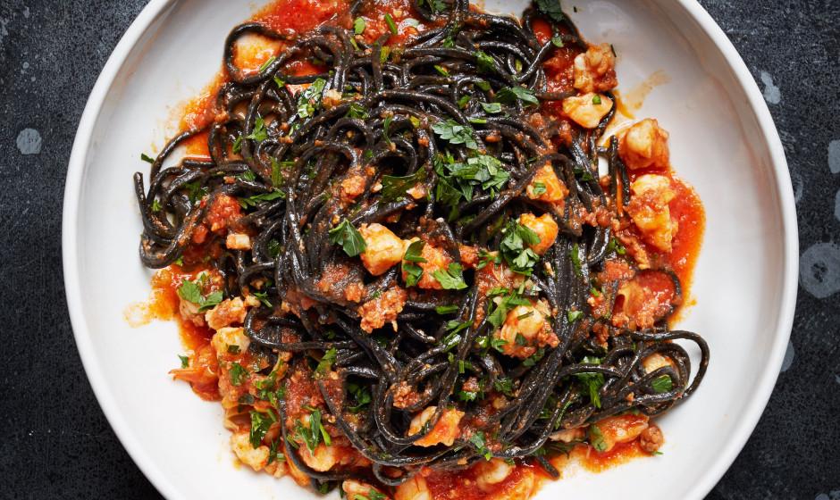 Black squid ink pasta recipes