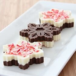 Snowflake peppermint bark 2