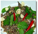 Kangaroo Larb or Spicy Thai Kangaroo Salad