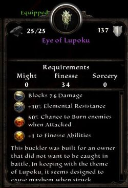 Eye of Lupoku Inventory Card