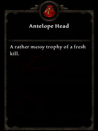Antelope Head (Reprisal, Reprised)