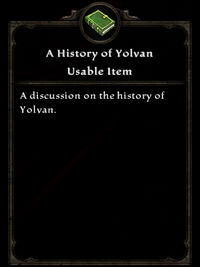 A History of Yolvan