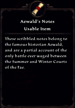 Aewald's Notes Inventory