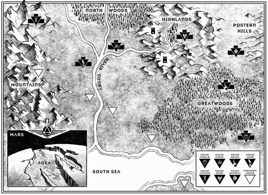 Map of Mars from Red Rising by Pierce Brown