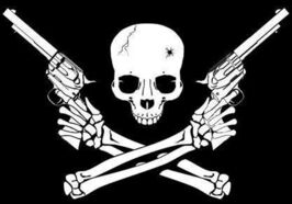 Small skull and crossed guns