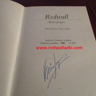 Signed & numbered title page
