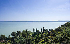 File:Lake Balaton at Tihany, Hungary.jpg