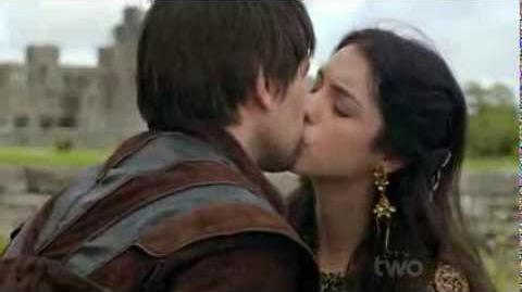 Reign Bash and Mary Kiss Scene