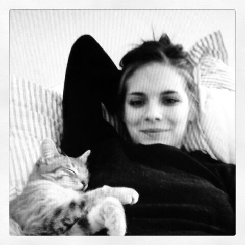 File:Caitlin and her cat.jpg