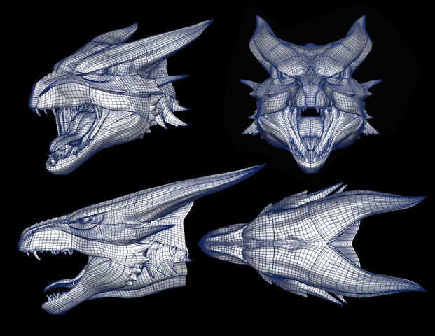 File:Wireframe for the Bull Dragon's head..jpg