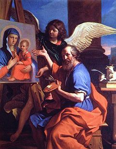 St luke displaying a painting of the virgin guercino.jpg