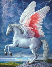 Ian-Hornak-Acrylic-Canvas-Pegasus-1991