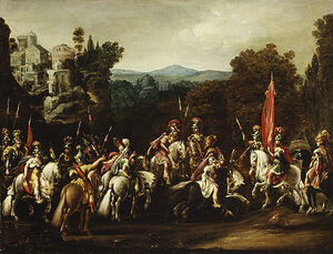 Deruet-Departure of the Amazons-1620