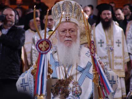 File:Patriarch Bartholomew Archbishop Jovan Liturgy.jpg