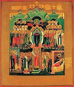 Icon 02041 Pokrov. Ikona. XIX v. Rossiya