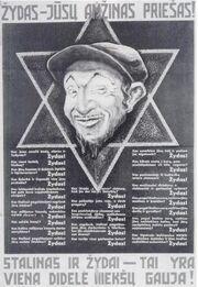 Nazi Lithuanian poster