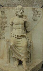 Seated Euripides Louvre Ma343
