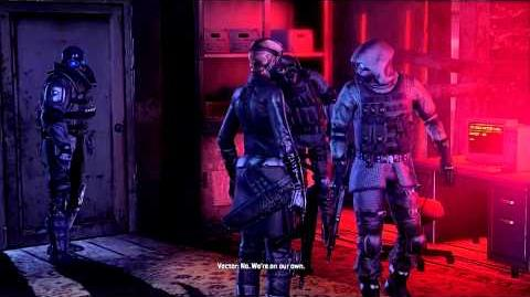 Resident Evil Operation Raccoon City all cutscenes - Wolfpack (Reprise) (Bertha and Vector)