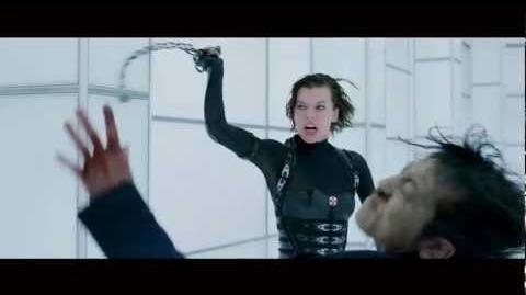"""Resident Evil Retribution - Clip 3 """"Corridor Fight"""""""