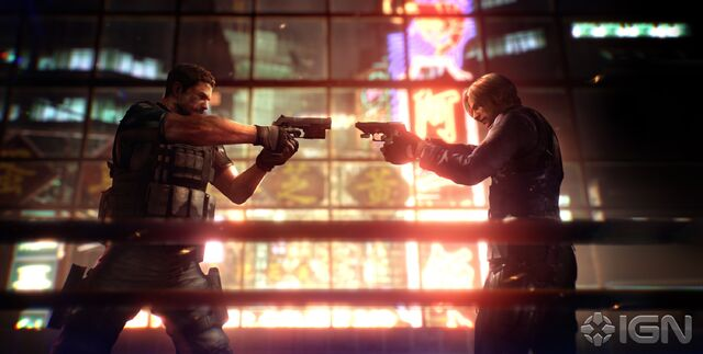 File:Chris redfield vs leon s kennedy resident evil 6 by chrisredfieldre1-d4vsztn.jpg