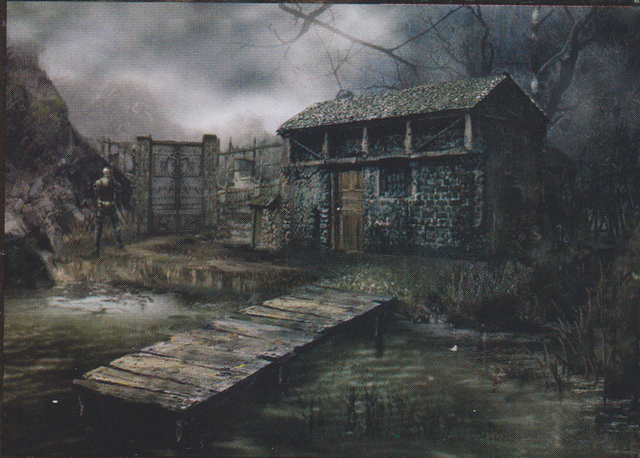 File:Resident Evil 4 concept art - Lake Hut.png