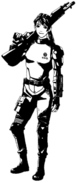 Elza in USS armor