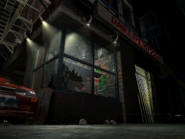 Resident Evil 3 background - Uptown - street along apartment building j - R10D06