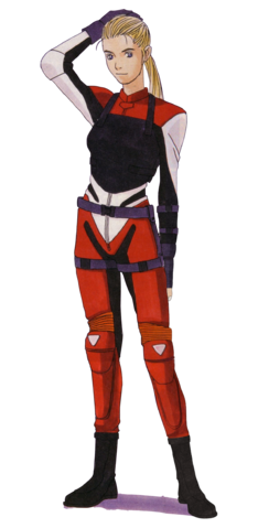 File:BIOHAZARD 1.5 concept artwork - Elza Walker early RPD outfit reconstruction transparent.png