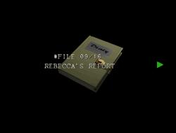 Re264 EX Rebecca's Report