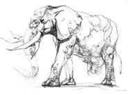 Zombie Elephant concept art 2