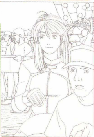 File:BIOHAZARD 1.5 concept artwork - Elza Walker early portrait line art draft 1.png