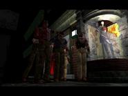 Resident Evil 3 Nemesis screenshot - Uptown - Street along apartment building - Jill Valentine scene 06