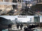 Modern Warfare - Battlefield comparison