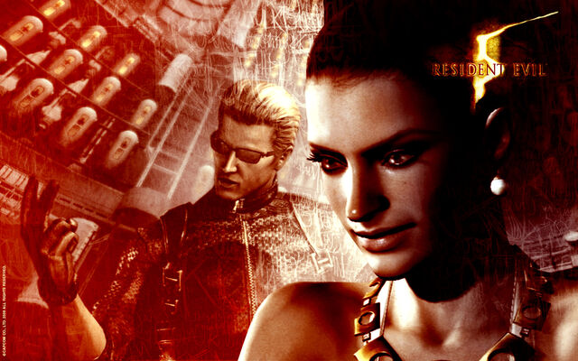 File:Excella and Wesker Wallpaper.jpg