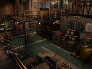 Resident Evil 3 background - Uptown - warehouse d - R10100