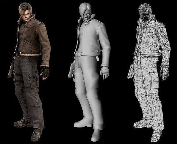 File:Leon RE4 Model.jpg