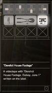 Resident Evil 7 Teaser Beginning Hour Derelict House Footage inventory