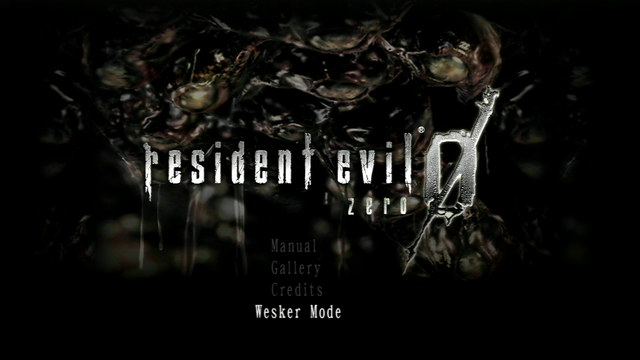 File:RE0HD Wesker Mode main menu.png
