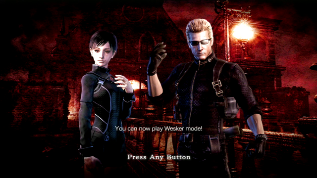File:RE0HD Wesker Mode unlocked.png