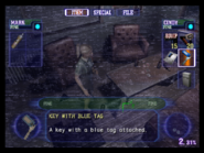 Resident Evil Outbreak items - Key with Blue Tag 02
