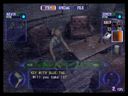 Resident Evil Outbreak items - Key with Blue Tag 01