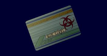 File:CODE Veronica item - Biohazard Card.png