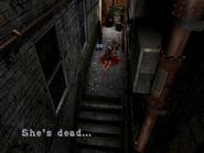 Resident Evil 3 Nemesis screenshot - Uptown - Warehouse back alley examine 04