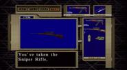 Code Veronica Sniper Rifle inventory