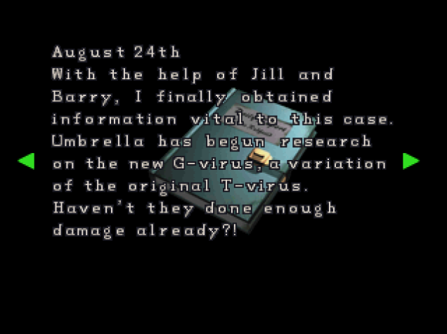File:RE2 CHRIS's diary 05.png
