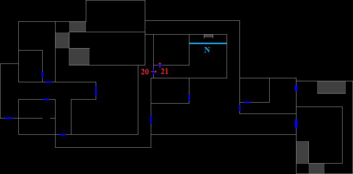 Dormitory 1F - encounter map