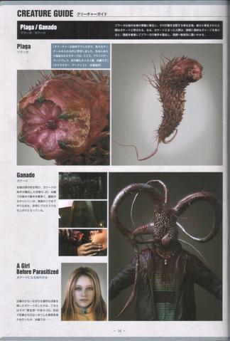File:Biohazard Damnation Artbook - Plaga Creature Guide.png