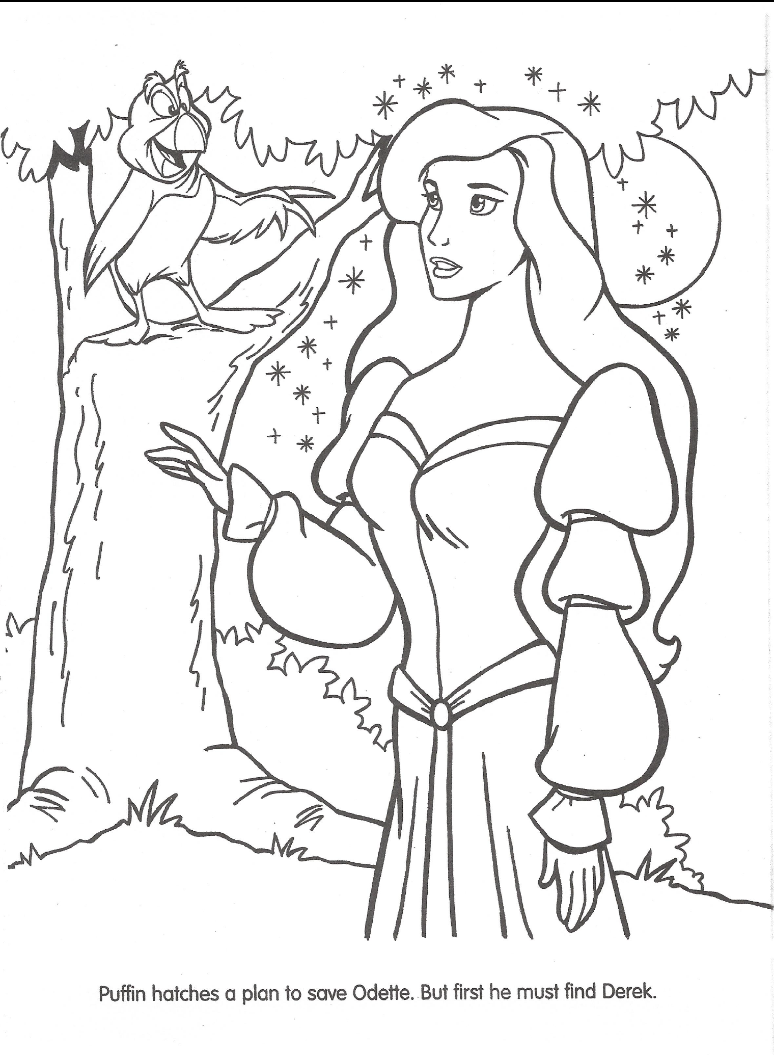 swan princess coloring pages free - photo#19