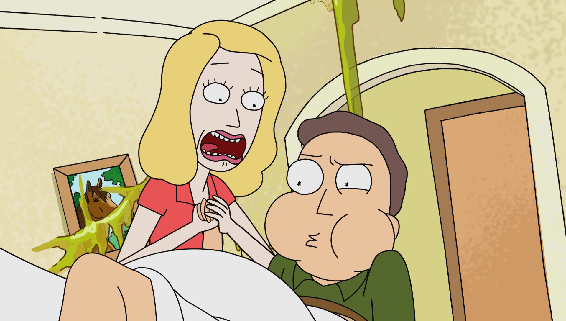 Image Opening Pregnant Jerry Png Rick And Morty Wiki
